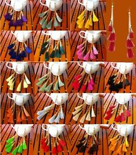 2014 Autumn Neon Lady Tassel 3 PCS  Chain Shoulder-Duster Dangle Charm Earrings