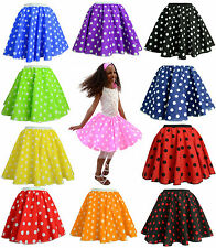 CHILDRENS PINK POLKA DOT ROCK AND ROLL 50s SKIRT & SCARF FANCY DRESS COSTUME