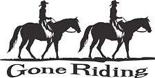 Gone Horse Ridding Cowboy Cowgirl Car Truck Window Laptop Vinyl Decal Sticker
