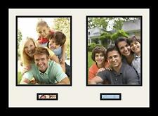 Satin Black Collage Picture Frame with 2 - 1x3, 8x10 opening(s), Double Matted