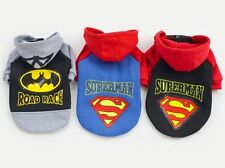 Spiderman Superman Cotton Coat Sweater Jumper Hoodie Small Boy Girl Dog Clothes