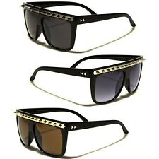 Spiked Flat Top Sunglasses Vintage Retro Gothic Punk Studded Party Rock Glasses
