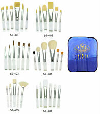 Royal Langnickel Paint Brush Set SOFT GRIP 6pc w Carry Case CHOOSE FROM 6 SETS