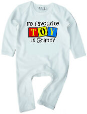 Dirty Fingers Romper suit Onesie My Favourite Toy is Granny Nanny Grand Mother