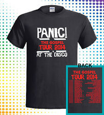 New PANIC AT THE DISCO GOSPEL TOUR DATES 2014 Men's 2 Sides T-Shirt S M L - 3XL