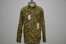 Ralph Lauren RRL Limited Edition Military Style Pullover Camo Polo Shirt