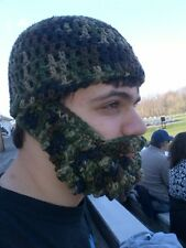 Beard Hat Turkey Hunting Detachable Facemask 1-size Cammo New Handmade Hunting