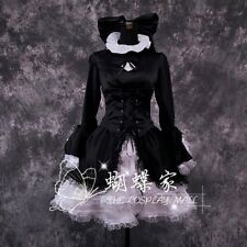 FATE/HELLOW Japanese Anime Saber black dress Gosick Cosplay Costume