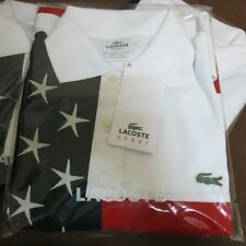 USA LACOSTE OLYMPIC GAME  T-SHIRT EMBROIDERED STARS 100% COTTON