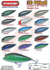 1 CAIVO 3D PITBULL TROLLING&POPPING TUNA SLAYER OFFSHORE LURES