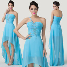 Unique Hi-Lo Homecoming Dress Chiffon Formal Evening wear Prom Party Cocktail DQ
