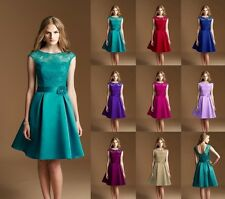 New Teal Knee Length Formal Ball Party Cocktail Evening Bridesmaid Dress Sz 6-16