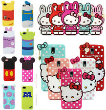 3D Cartoon Silicone Soft Back Animal Case Cover for iPhone Samsung LG HTC M8&M7