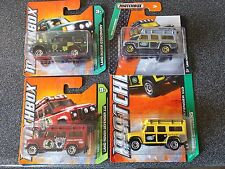 Matchbox Landrover Defender Congo Red Yellow Discovery Green Grey Swamp Tours