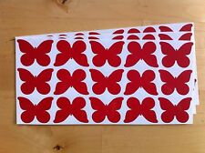 45 BUTTERFLY STICKERS vinyl,ANY COLOUR,car,WINDOW,wall,CARD,laptop,TILE,book