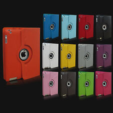 For iPad 4 4th 3 2 Gen 360 Magnetic Rotating PU Leather Case Smart Cover Stand