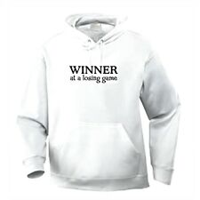 Pullover Hooded One Liners Sweatshirt Winner At A Losing Game