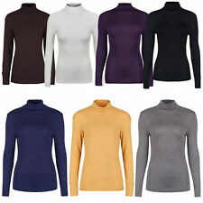 Marks & Spencer Womens Long Sleeve Roll Neck Polo New  M&S Turtle Pullover Tops
