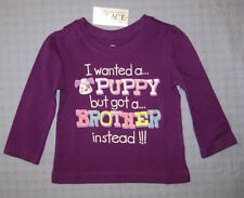 I WANTED a PUPPY but GOT a BROTHER Top - nwt little girl sizes - Childrens Place