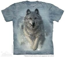 Snow Plow Kids T-Shirt from The Mountain. Wolves Boy Girl Child Sizes NEW