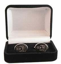INTELLIGENCE CORPS REGIMENT CREST ENGRAVED CUFFLINKS, GOLD OR SILVER NEW