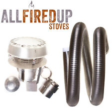"""Multifuel Flexible Flue Liner Installation Kit 9 For Wood Burning Stove 6"""" To 6"""""""