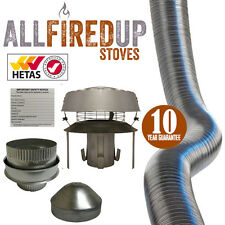 "Multifuel Flexible Flue Liner Installation Kit 10 Wood Burning Stove 4"" To 5"""