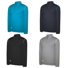 ADIDAS GOLF TEXTURED HALF ZIP FLEECE PULLOVER - WINTER SWEATER CLIMALITE WARM