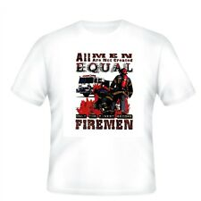 Fire Ems Police T-shirt All Men Not Created Equal Only Finest Become Firemen