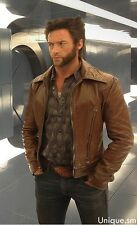 Xmen Wolverine Days of Future Past Brown Slim fit Genuine Leather Jacket