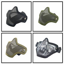Paintball Strike Airsoft Bicycle Nylon Mesh Half-Face Mask Tactical Equipment