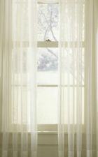 Plain SHEER Voile Net Sheer Curtain Panel with ALTERATIONS SERVICE White Cream