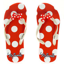 Disney Minnie Mouse Red White Polka Dot Flip Flop Sandals