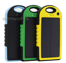 Universal Dual USB mobile 5000mah Waterproof Solar battery charger Power Bank