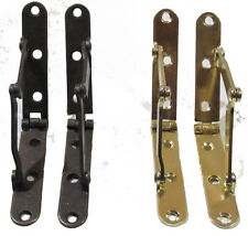 Steel Drop Front Desk Stay, Hinge, Sold in Pairs, Antique Brass or Brass Plated