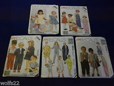 C McCall's ~ All Patterns are Size 2-6 (2,3,4,5,6) U-PICK ~ 6+ Listed 8341 ~ NIP