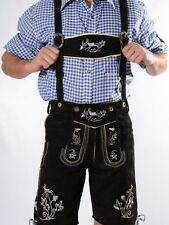 100% Authentic Bavarian Lederhosen Plattler Shorts w/silver embroidery ALL sizes