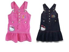 Sanrio Hello Kitty Kids Girls Overall Snap Woven Character Adjustable Jumper NEW