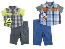 Disney Mickey Mouse Monster Inc Mike Kids Infant Baby Boys 2PC Outfit Set NEW