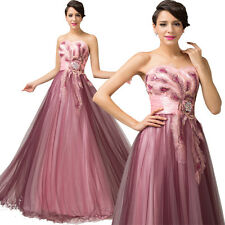 ❤FREE SHIP❤ NEW Applique peacock Long Prom evening party Ball Gown/Evening Dress