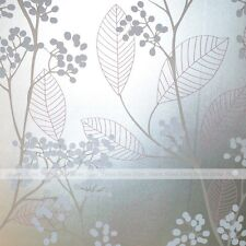 Privacy Glass Film Pink Leaf White Flowers Window Decal Sticker Self Adhesive