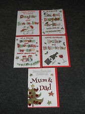 Mum and Dad,Brother,Sister,Son,Daughter In Law Christmas Cards FREE1st CLASS P/P