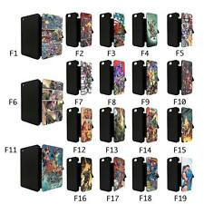 DC Marvel Superhero Comic Book Flip Case Cover for Apple iPhone iPod iPad - TF1