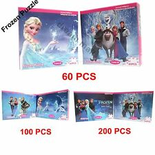 FREE New Disney Frozen 60 100 200 Piece Jigsaw Puzzles The Snowman Anna Kristoff