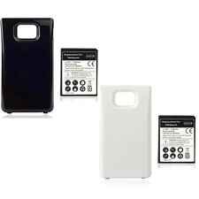3500mAh Extended Battery + Back Cover For Samsung Galaxy S2 i9100 W/B Color Y5RG