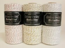Metallic Gold, Silver or Rose Gold 240 YARDS SPOOL of Divine Twine Bakers Twine