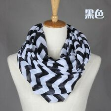Infinity Chevron Zig Zag Block Circle Double Loop Wrap Scarf Scarves many color