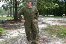 FLYERS OLIVE DRAB FLIGHT SUITS COVERALLS LOTS OF POCKEST AND ZIPPERS OR VELCRO