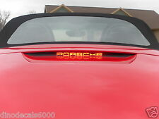 Porsche Boxster 986 S 3rd brake light decal overlay 97 98 99 00 01 02 03 04