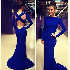 Long Sexy Women MAXI Ball Prom Gown Formal Cocktail Mermaid Party Evening Dress